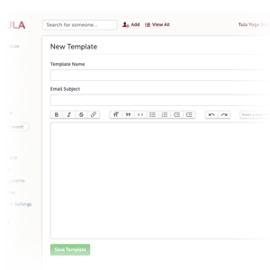 Send emails quickly and easy directly from Tula, and setup automated email campaigns.