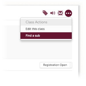Allow your instructors to find a sub with the click of a button.